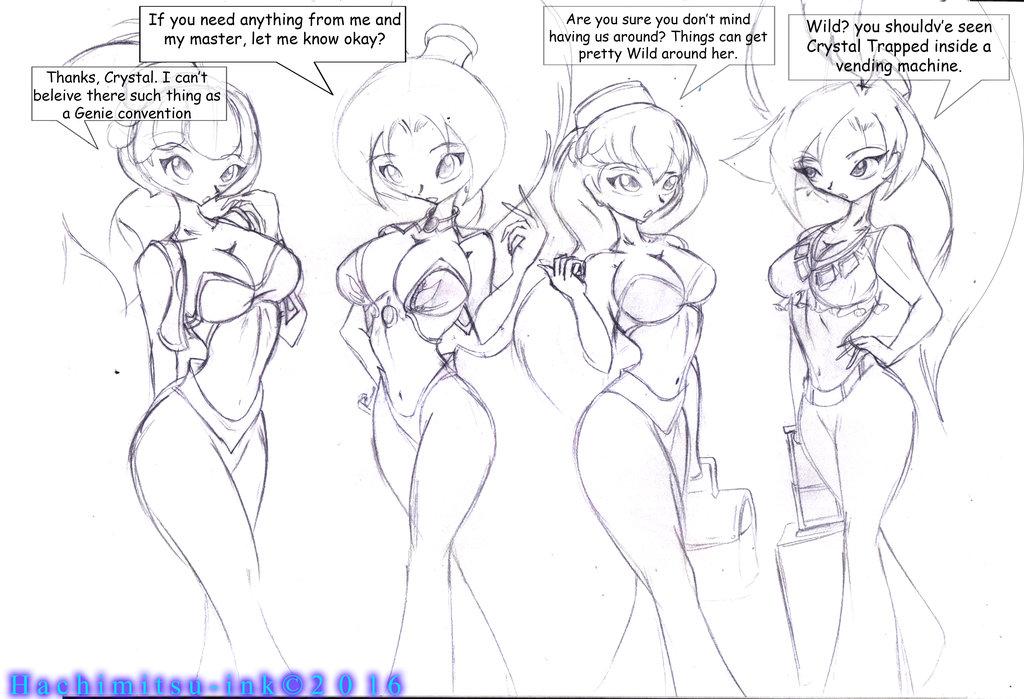 Jean meets Crystal by hachimitsu-ink