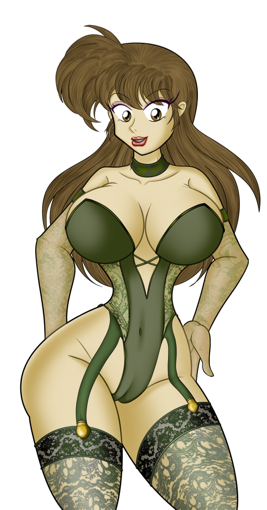 Natalie (Green Lingerie) by Th3go